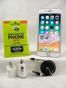 Apple iPhone 7 - 128GB Gold Verizon Unlocked with Straight talk/Verizon SIM card
