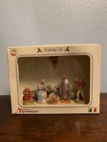 Collezione Moranduzzo Nativity Set, Made In Italy, Set Of Eight Figures