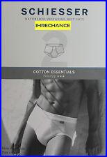 4 Schiesser Herren Sportslips Cotton Essentials Feinripp Gr. 7   XL weiß 205159