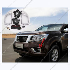 Chrome Bumper Cover Driving Lamp Fog Light k Fit For Nissan Navara NP300 2015-18