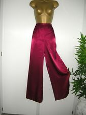 12 DEEP RED SATIN WIDE LEG TROUSER PALAZZO  BY PETER MARTIN XMAS PARTY CRUISE