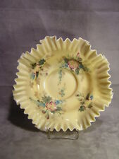 """Fenton Art Glass 13"""" Hand Painted Crimped Bowl ~ #15623"""