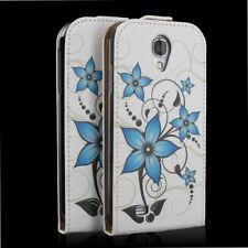 Sac téléphone portable Flip Case Housse samsung galaxy s4 gt-i9505 sac portable fleur turquoise