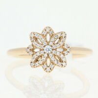 NEW Authentic Pandora Lace Botanique Ring - 14k Gold Flower 150182CZ-54 Size 7