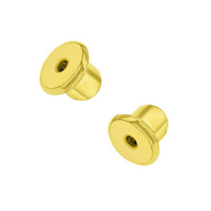 Replacement Pair (2) 18k Gold Plated Earring Screw Backs Fits In Season Jewelry