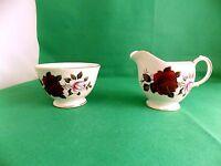 Colclough Red Roses Milk Jug & Sugar Bowl