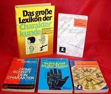 5 x Handschrift Charakterkunde Menschenkenntnis Zukunft - Bücherpaket - Esoterik