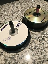 Around 50 Recordable CD-R Discs, Open Packages, Memorex And Optimum 700MB 80 Min