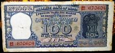 100 RUPEES  BANK NOTE DIAMOND  ISSUE SIGNED BY GOV. L K JHA G-24.