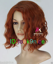 Wigs The Avengers Natasha Romanoff Black Widow Short Curly Auburn Cosplay Wig