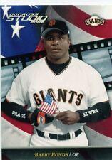 Barry Bonds 2002 Donruss Studio #74 San Francisco Giants