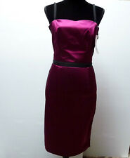 DOLCE & GABBANA Cyclamen Black Spaghetti Strap Dress Size 40 Small