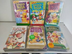 Vinnie The Pooh Disney VHS Bundle X6. 1 Limited Edition, 1 video premier, Tigger