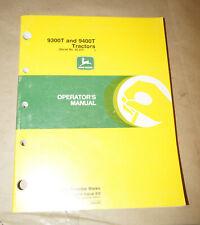 2000 John Deere 9300T & 9400T Tractors Operator's Manual P/N OMAR172616 Issue B0
