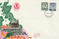 1 MARCH 1967 9d & 1/6d SCOTLAND DEFINITIVES CONN FIRST DAY COVER EDINBURGH FDI