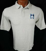 Mickey Mouse Disney Men's Gray Embroidered Short Sleeve Polo Shirt Size L Large