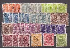 Bund 1951, Posthorn,Sammlung  gestempelt