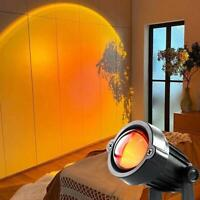 New Rainbow Sunset Projection Lamps Atmosphere Night Light Background Wall Decor