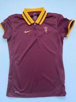 Nike Dri Fit Womens Red Arizona State Sun Devils Polo Shirt Medium