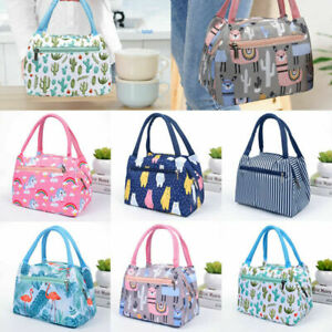 Cartoon Printed Lunch Bag Insulated Thermal Cool Bags Picnic Food Boxes Supply