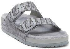 Birkenstock Arizona Croc Embossed Leather Shearling Sandal Sz 36 US 5 Narrow Fit
