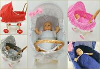 Doll Wicker Buggy /Pram / Dolls Buggy/ Pram/ Stroller / toy