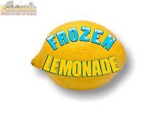 Frozen Lemonade On A Lemon Decal Stand Cart Trailer Banner Dispenser Slush Sign