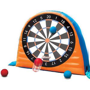 Banzai Land Bouncer All Star Inflatable Outdoor Sports Kick Dartboard Game Set