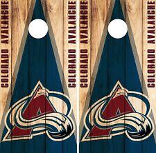 Colorado Avalanche Cornhole Wrap NHL Game Board Skin Set Vinyl Decal Art CO336