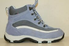 LL Bean Womens Ankle Boots Sz 11 M Blue Suede Leather TEK 2.5 Waterproof System