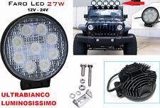 Faro supplementare LED Auto,Suv,Camper,Barca. 12-24V universale .Profondità,IP68