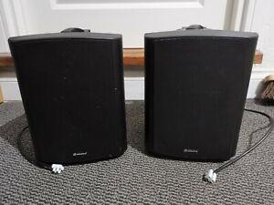 """2x Adastra BC6V-B 100V 6.5"""" 120W background speaker black"""