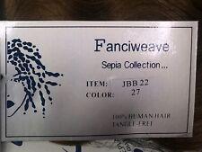 "Sepia 100% Human Hair Fanciweave  extensions 22"" color 27 JBB 22 Wavy NIP"