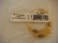 Alex and Ani Watercolor Sunlight Beaded Gold Wire Hoop Drop Earrings New