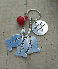 Fathers Day Childrens name Fishing key chain Ring custom personalized Dad Gift