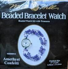 MILL HILL Amethyst Confetti Beaded Bracelet Watch KIT