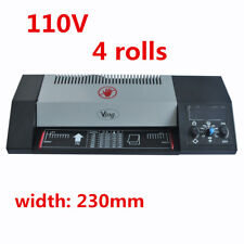 """110V 9"""" A4 Steel Thermal Laminator Roller Pouch Photo Office, 4 Roller System"""
