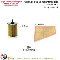 10-12 Mondeo mk4 2.0Tdci Oil,Fuel,Air /& Pollen Filter Service Kit