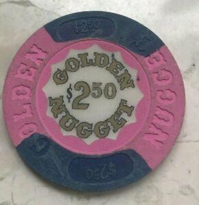Golden Nugget Atlantic City $2.50 Casino Chip Token