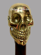 Antique Style Brass Skull Handle Designer Walking Canes Vintage Victorian Sticks