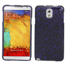 For Samsung Galaxy Note 3 HARD Protector Case Snap on Phone Cover Purple Leopard