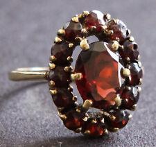 Ring mit Granat Gold 333 Goldring Größe 16 mm - 50