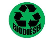 4x4 inch Round Green BIODIESEL Logo Sticker - gas clean fuel recycle bio diesel