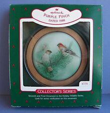 1988 Keepsake Ornament Purple Finch 7th/Final in Holiday Wildlife Series Nib