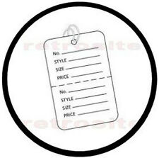 200 Small Coupon Price Tags With Strings White 2 Part Perforated Strung