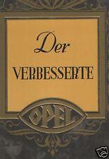 OPEL WAGEN HOCHWERTIGER  PROSPEKT 1929 LUXUS OLDTIMER VORKRIEG SAMMLER