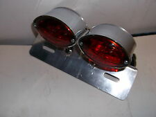TWIN S CATSEYE REAR CUSTOM TAIL LIGHT WITH NUMBER PLATE ILLUMINATION  BC 5721 -T