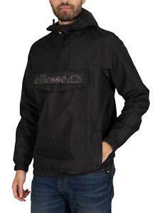 Ellesse Men's Exclusive Mono Mont Pullover Jacket, Black