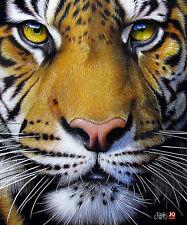 JQ Licensed  Luxury Plush Super Soft Queen Size Blanket--Tigerface