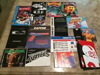Vintage Video Game Manual Lot NES, GAMEBOY, POSTER, SEGA, SNES, GBA, NES Zapper